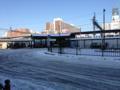 [雪]金町駅南口、雪こんな感じ。