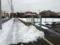 車通りの少ない道はまだ雪でこんな感じ。