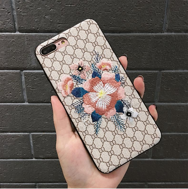 刺繍iphoneXS Max ケース花柄XR/XS/8plus