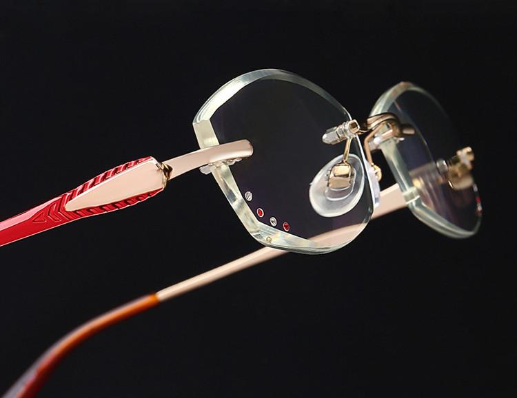パソコンめがねシニアグラス老眼鏡 リムなしリムレス