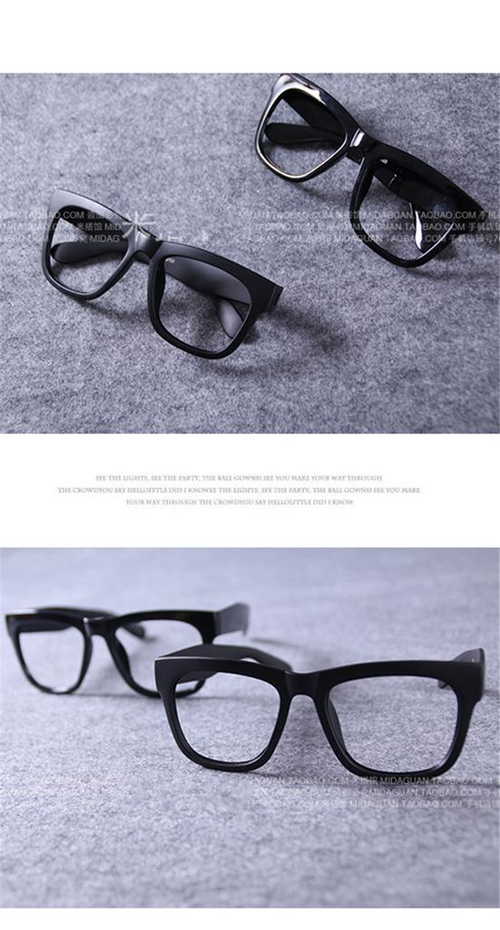 眼鏡流行フレーム黒縁メガネ 太い