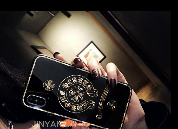 ネックストラップ付きクロムハーツiPhone XR/XS/Xケース女性