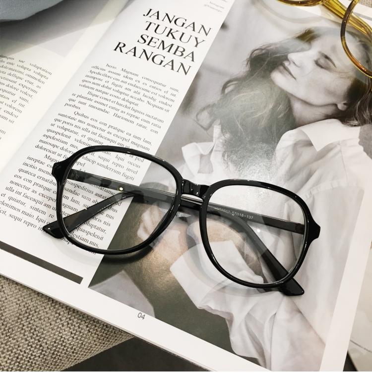 おしゃれクリアメガネ フレーム 太い伊達眼鏡
