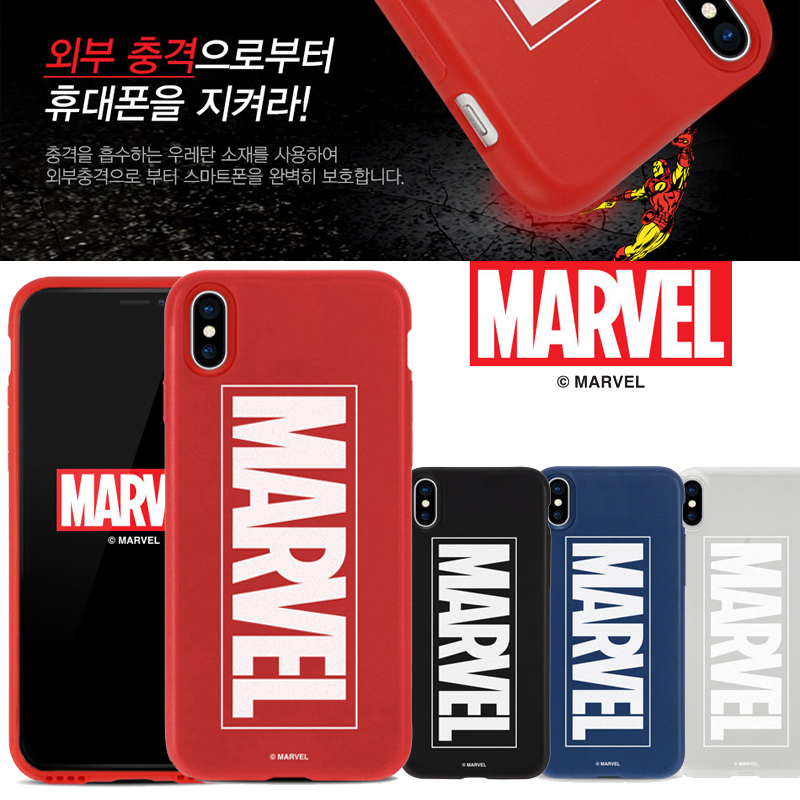 マーベルマークiPhone XSスマホケースXS Max/XR赤