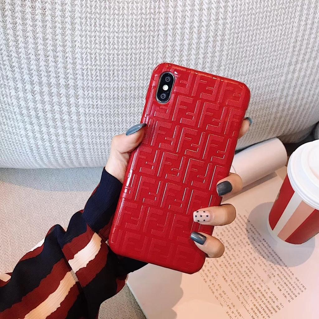 ブランド フェンディ男女iPhone XSスマホケースXS Max/X/8赤