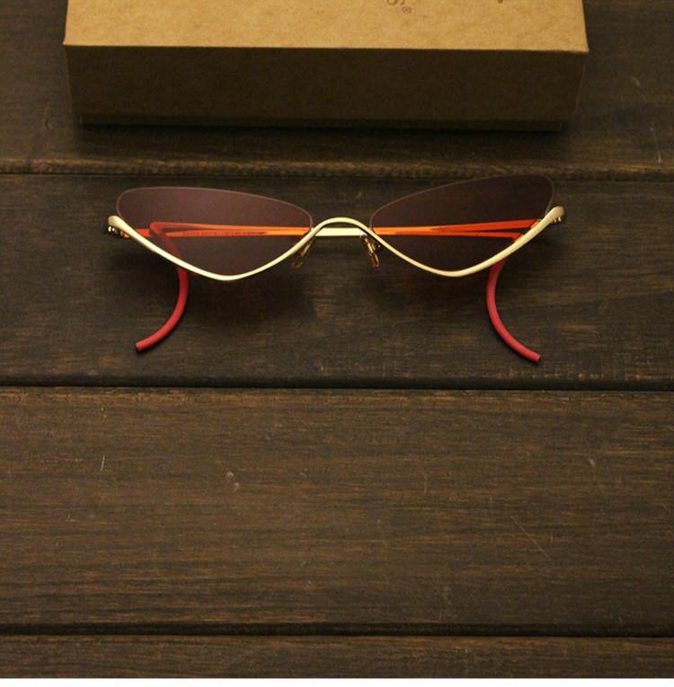 サングラス 芸能人 画像キャットアイサングラス今年逆ナイロール眼鏡サングラス日本フォックス型