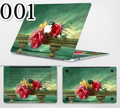 全面ステッカー花柄おしゃれmacbook pro スキンシールデザイン