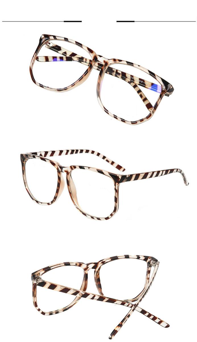 ビッグ眼鏡メガネ ウェリントン べっ甲軽量