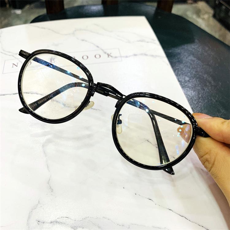 べっ甲メガネ トレンド メンズ可愛いボストン型