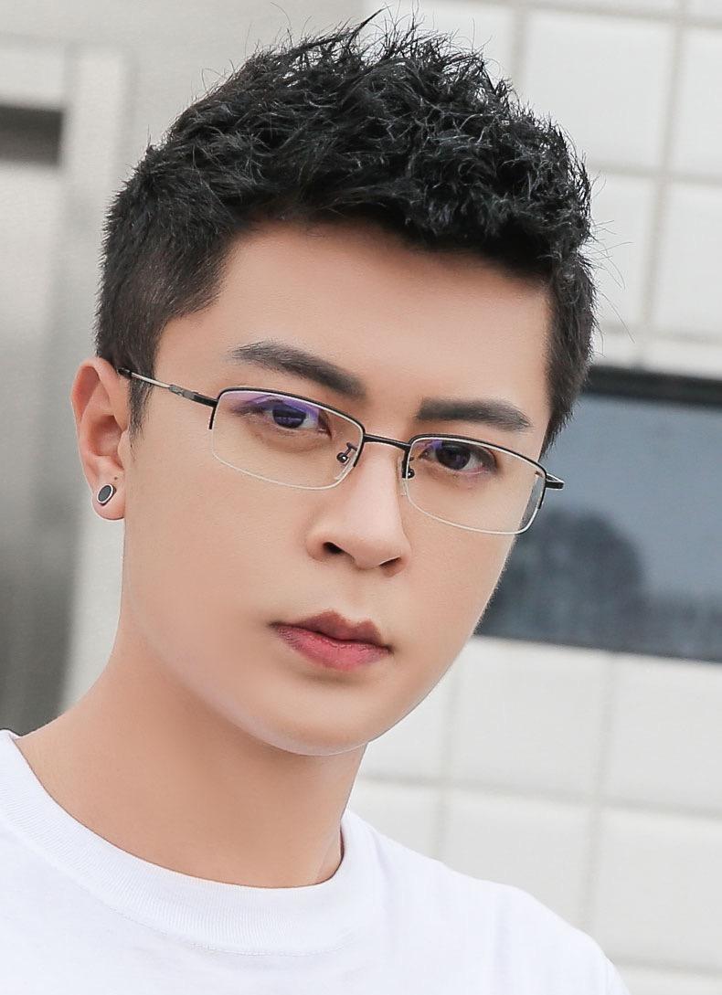 知的 眼鏡ナイロール細いフレーム