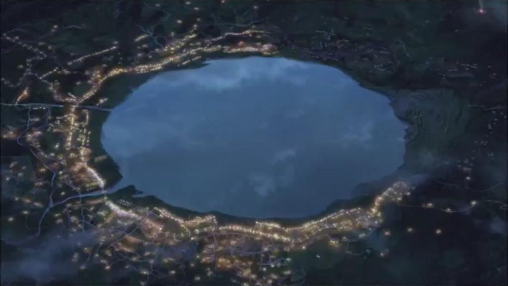 君の名は。隕石落下2つ目 糸守湖