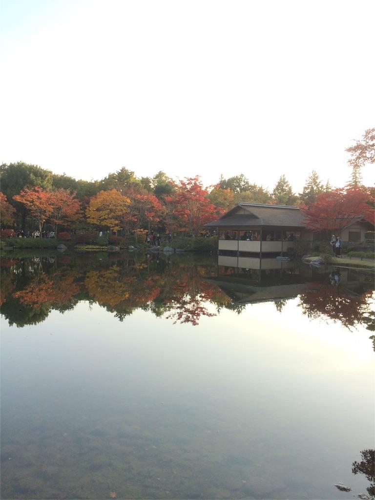 昭和記念公園 池に映る