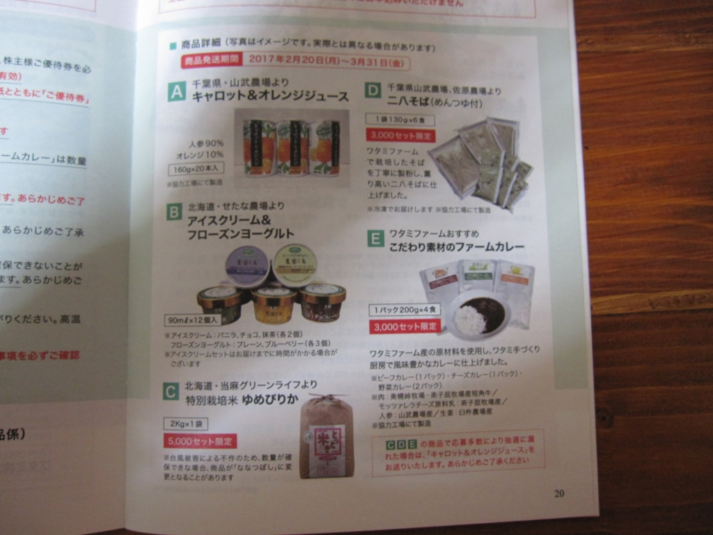 株主優待 ワタミ 商品交換