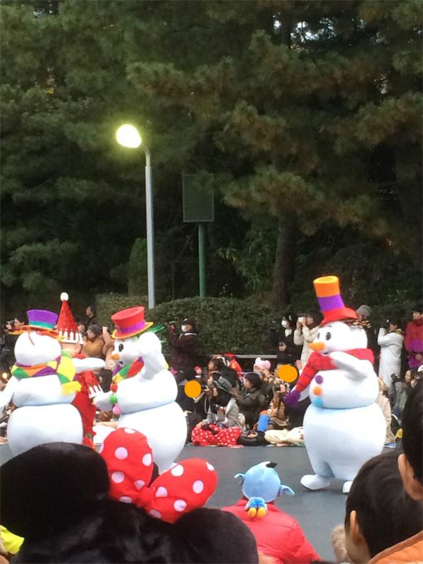 2016年ディズニークリスマス パレード スノーマン