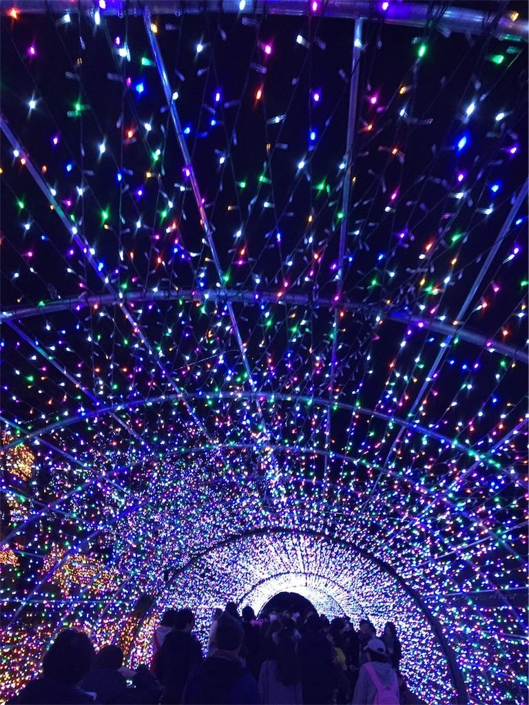 よみうりランド イルミネーション 光の洞窟