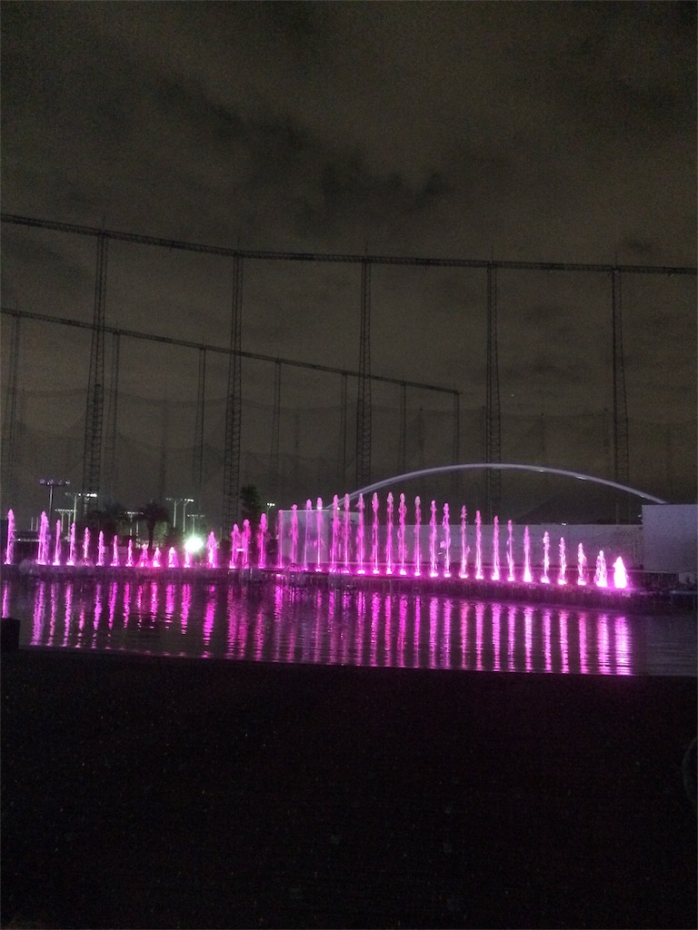 よみうりランド イルミネーション プールWAI 噴水ショー1