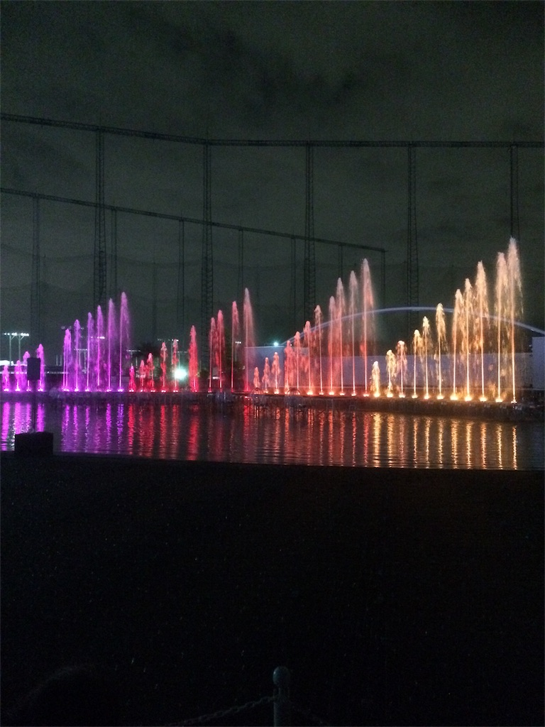 よみうりランド イルミネーション プールWAI 噴水ショー2