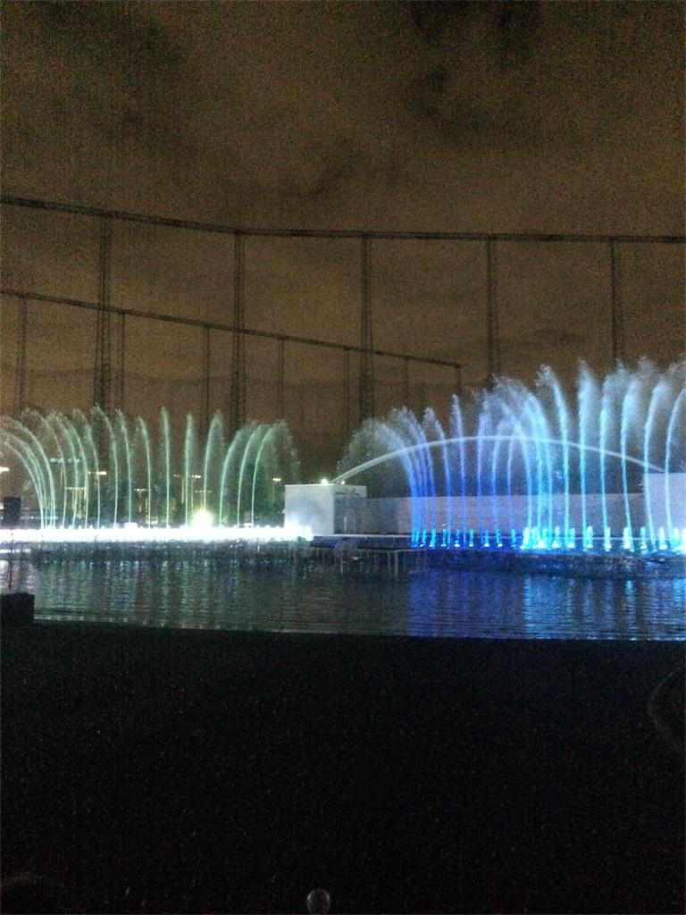 よみうりランド イルミネーション プールWAI 噴水ショー3