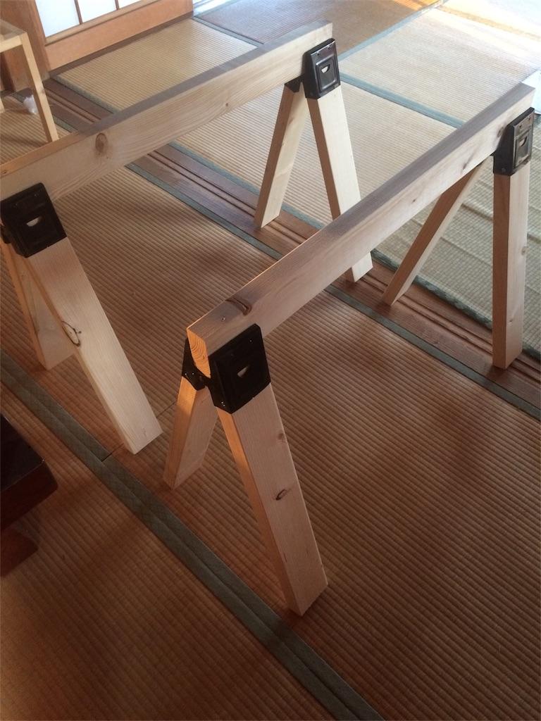 DIY 作業台 ソーホースブラケット