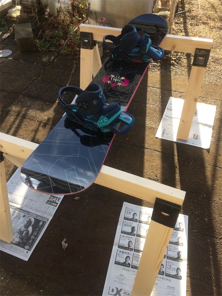 スノーボード ホットワックス DIY