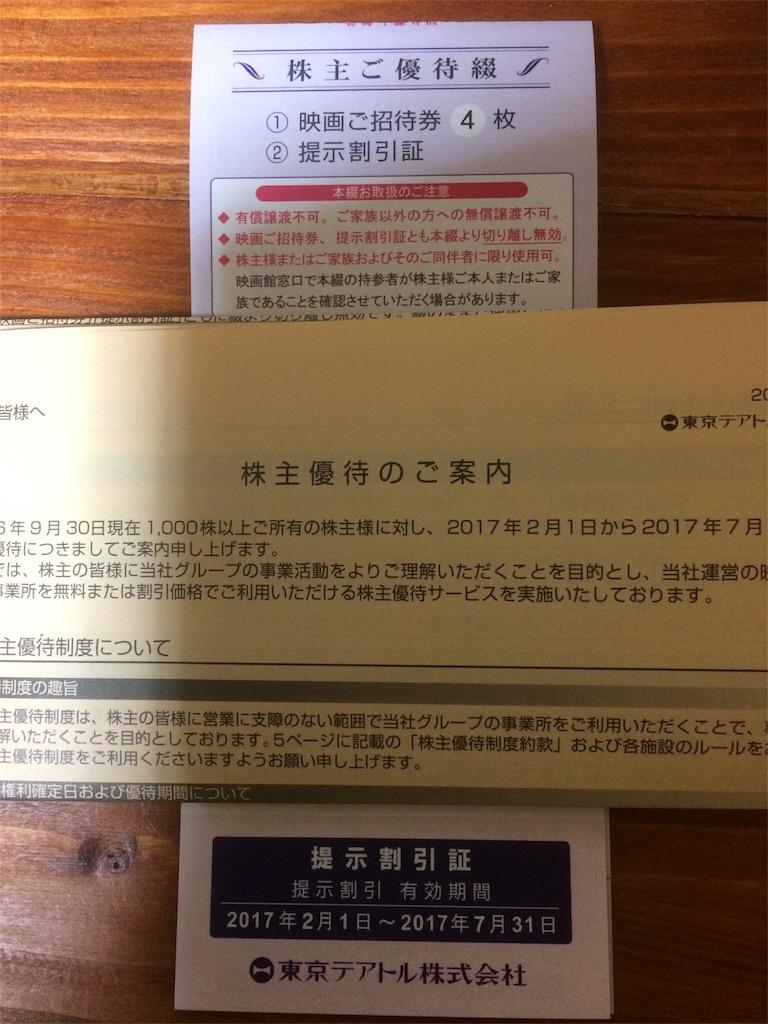 株主優待 東京テアトル 映画券