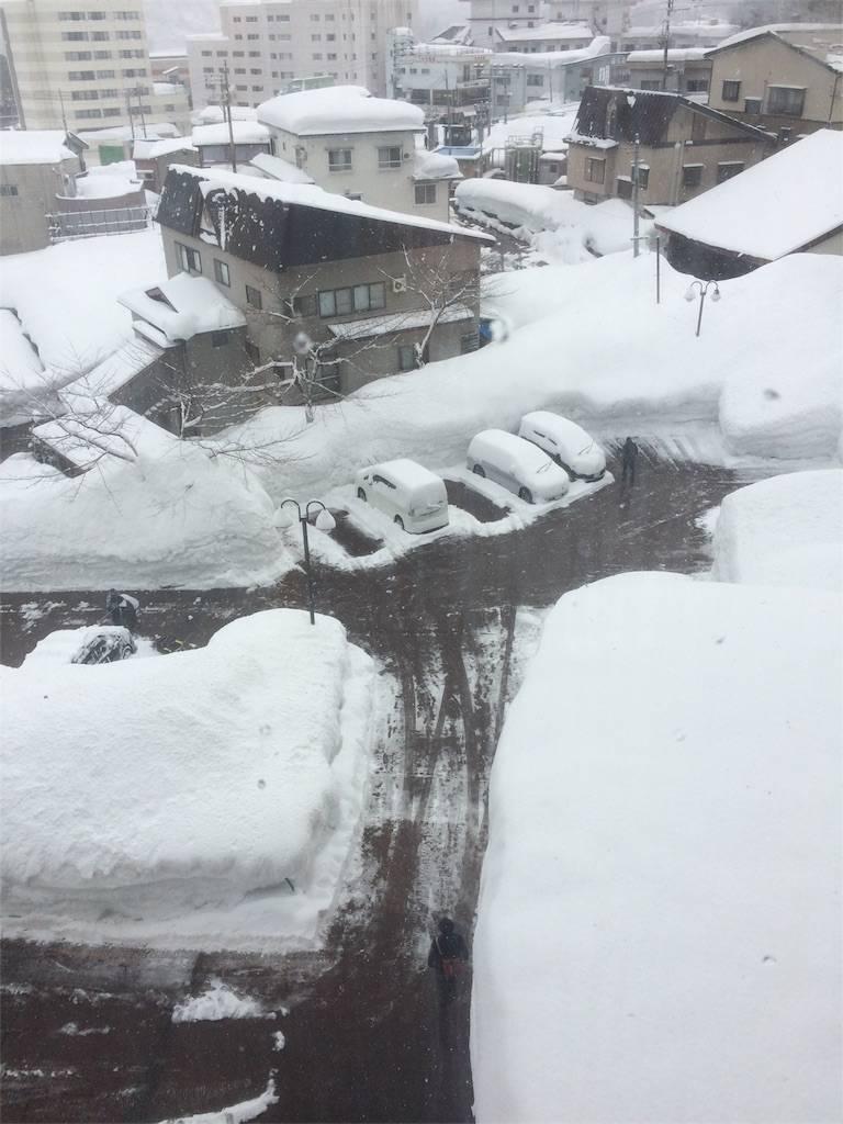 KKR湯沢ゆきぐに 起床後の雪