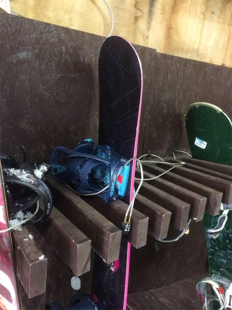 竜王スキーパーク ホテル ボード保管