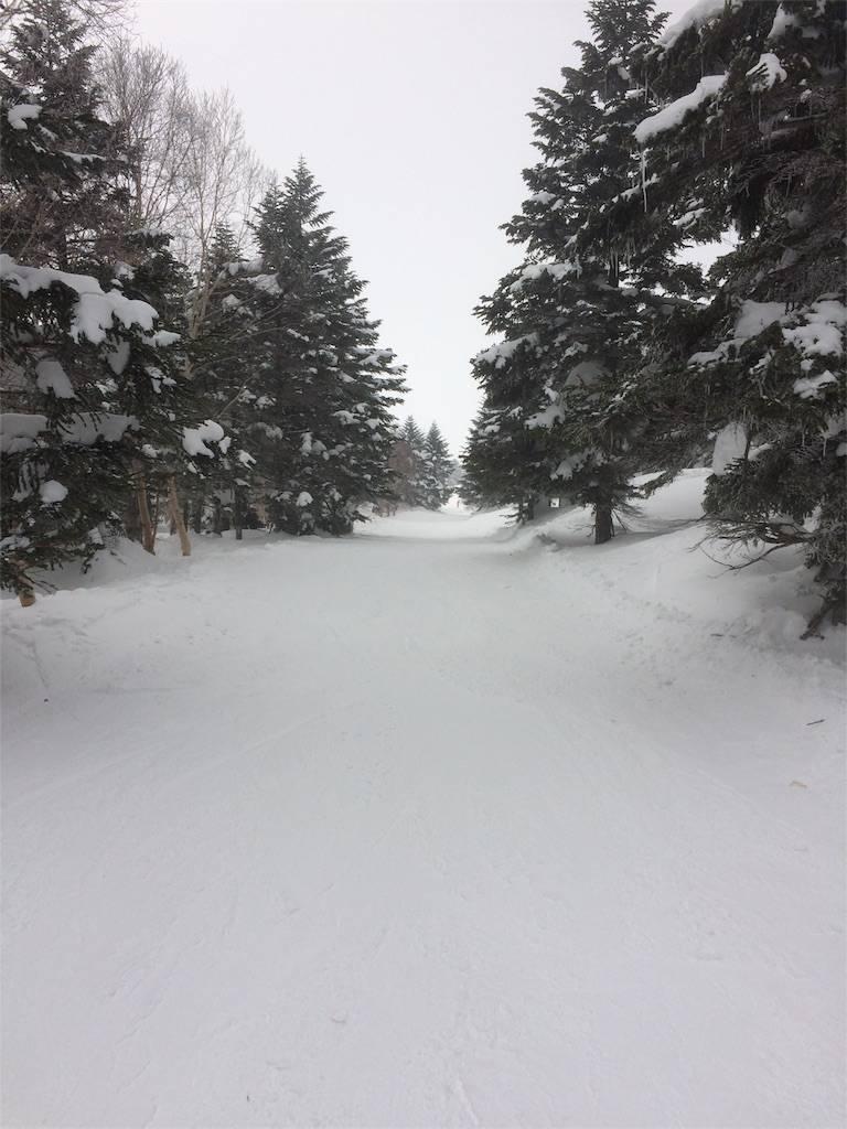 竜王スキーパーク 山頂ゲレンデ 平坦コース