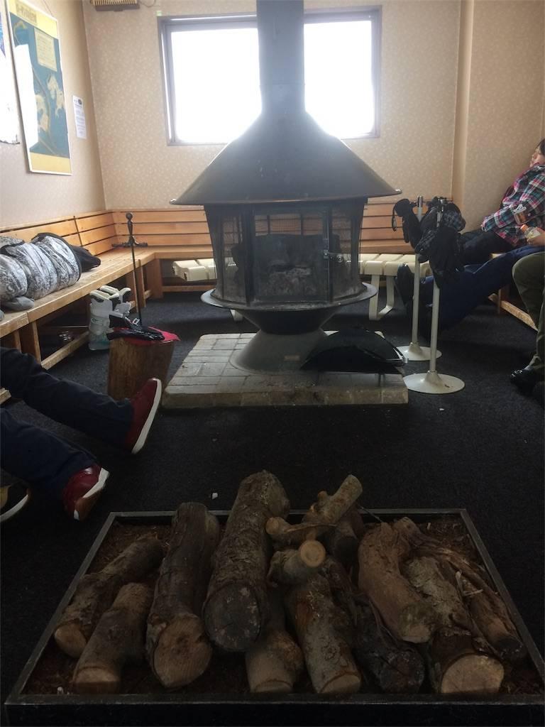 竜王スキーパーク 山頂レストラン 暖炉