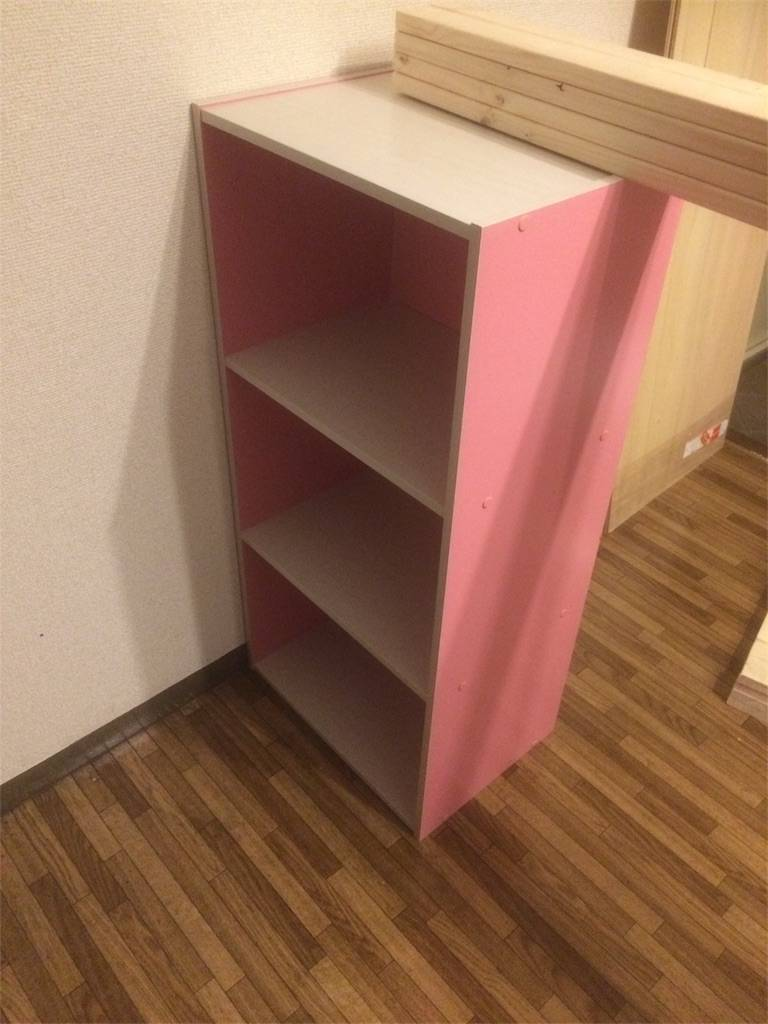 DIY キッチン カウンター カラーボックス