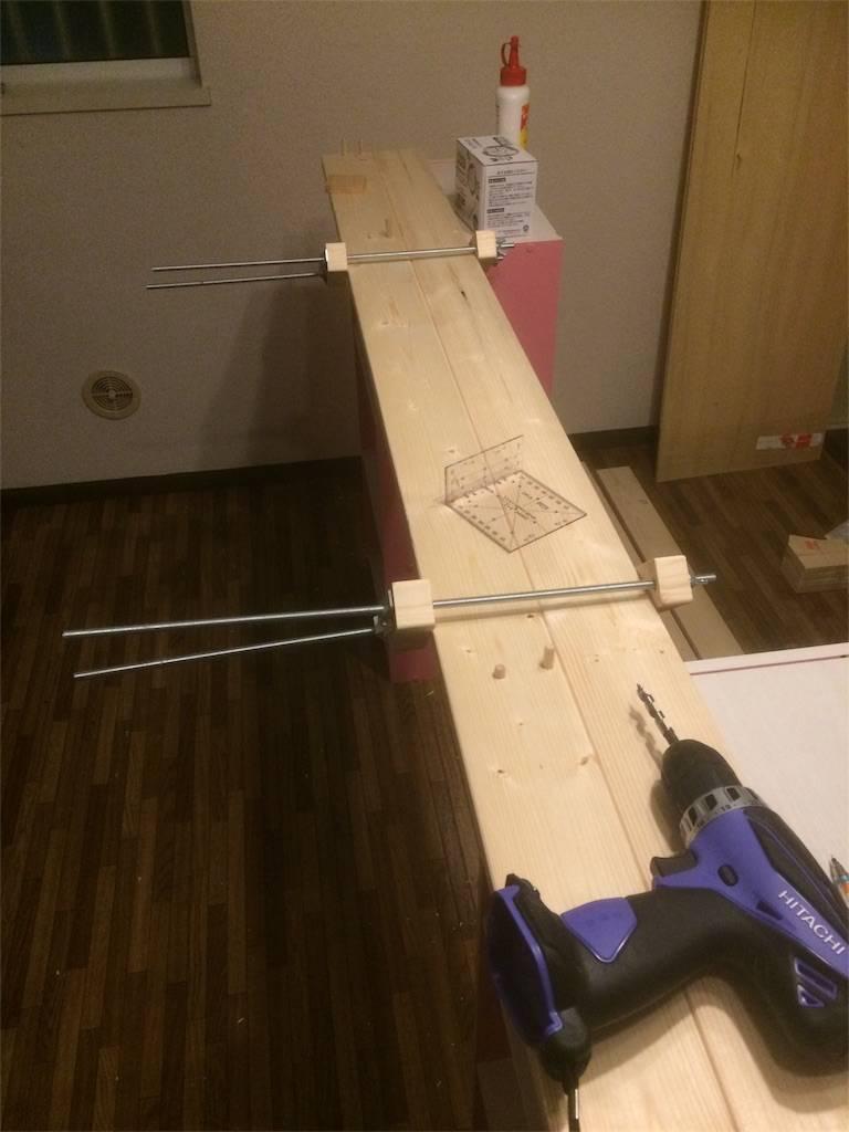 DIY カウンターキッチン 天板製作
