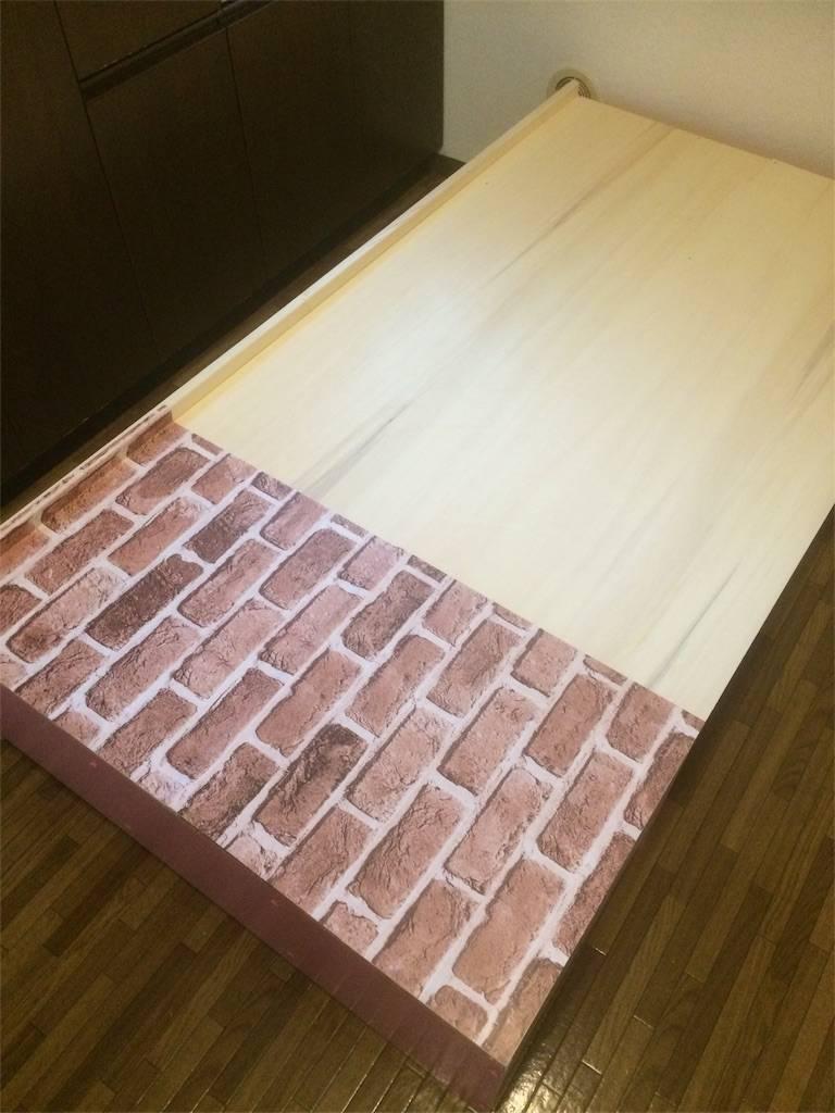 DIY カウンターキッチン リメイクシート 貼り付け