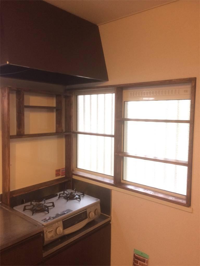 DIY 調味料ラック 窓枠ラック 塗装