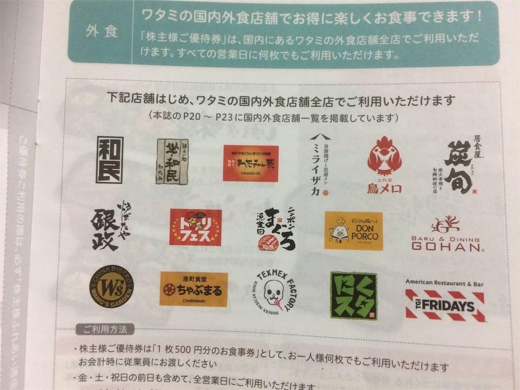 株主優待 ワタミ 店舗ブランド