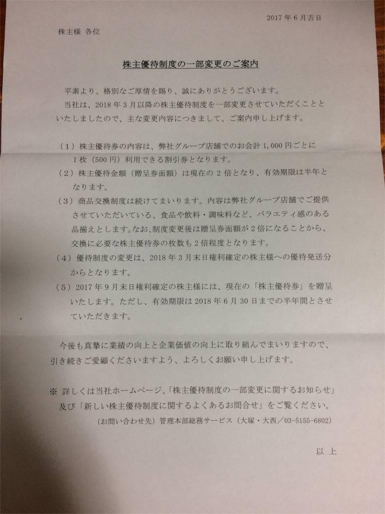 株主優待 ヴィア・ホールディングス カタログ品 改悪後