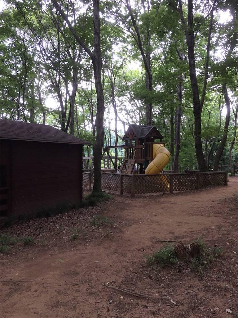 夏キャンプ フォンテーヌの森 遊具