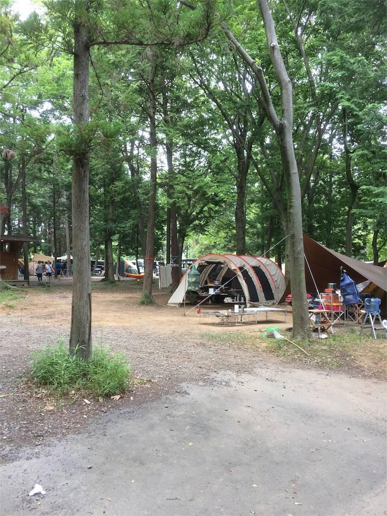 フォンテーヌの森 キャンプ テントサイト2
