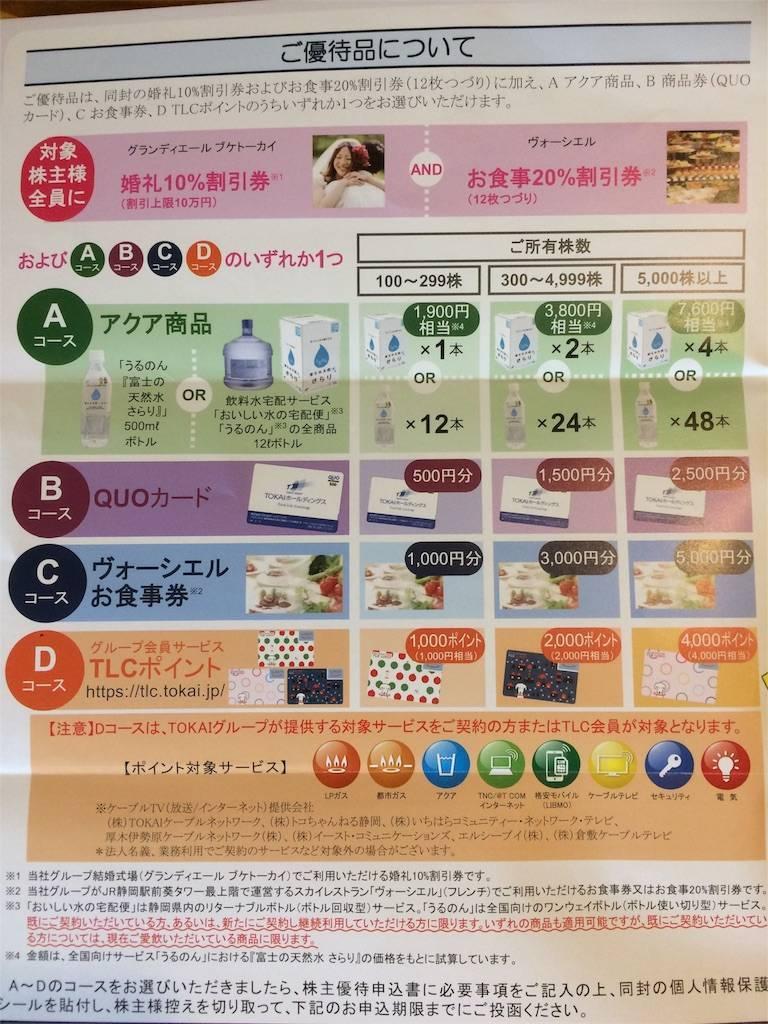 株主優待 TOKAIホールディングス