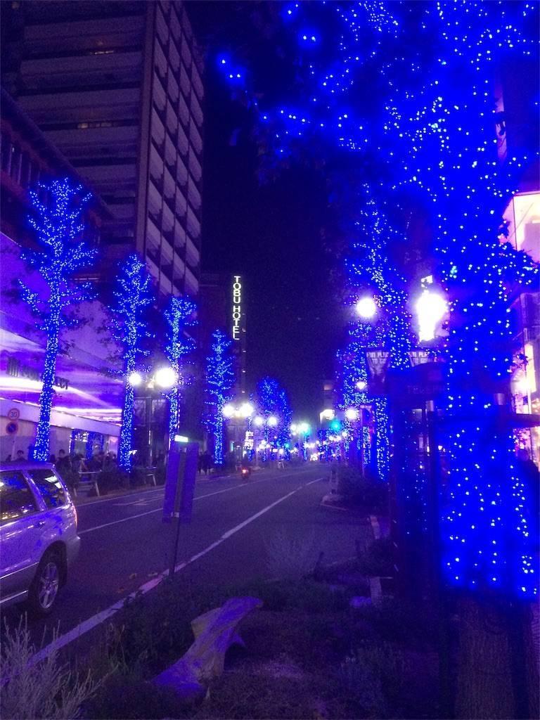 青の洞窟 代々木公園 イルミネーション 渋谷側
