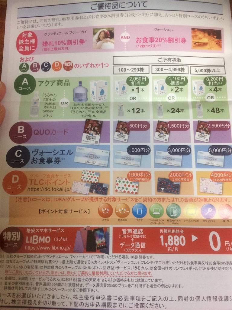 株主優待 TOKAIホールディングス LIBMO 格安SIM