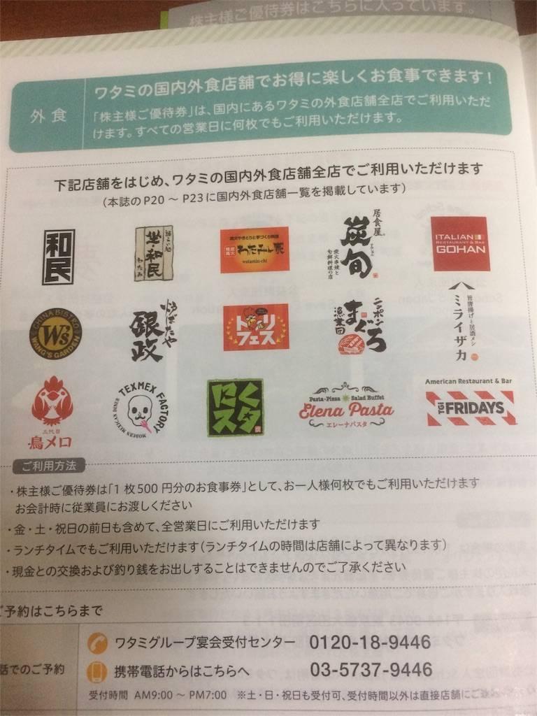 株主優待 ワタミ 店舗一覧