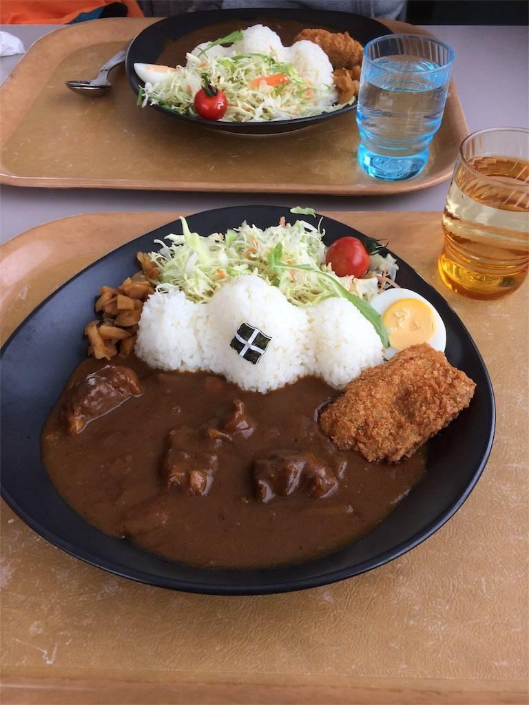 スノーボード 長野 白馬五竜 お昼 武田菱カレー