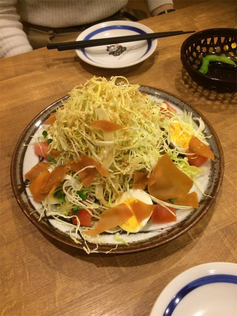 株主優待 ヴィア・ホールディングス 備長扇屋 サラダ