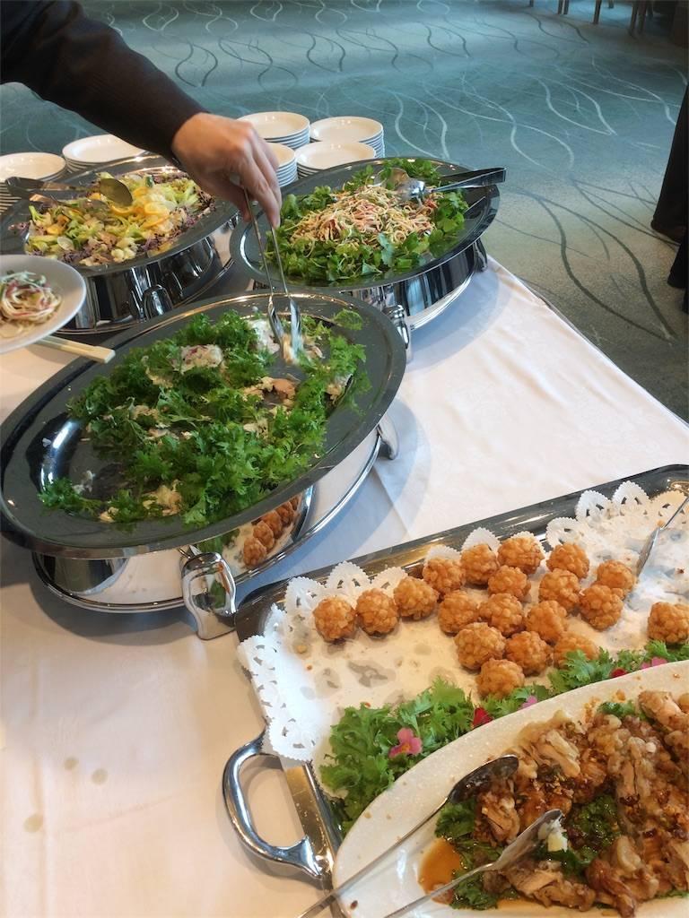 株主優待 株主総会 東邦レマック 懇親会 東天紅 サラダ
