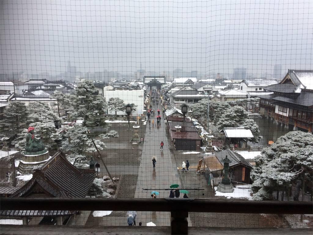長野 善光寺から見た風景