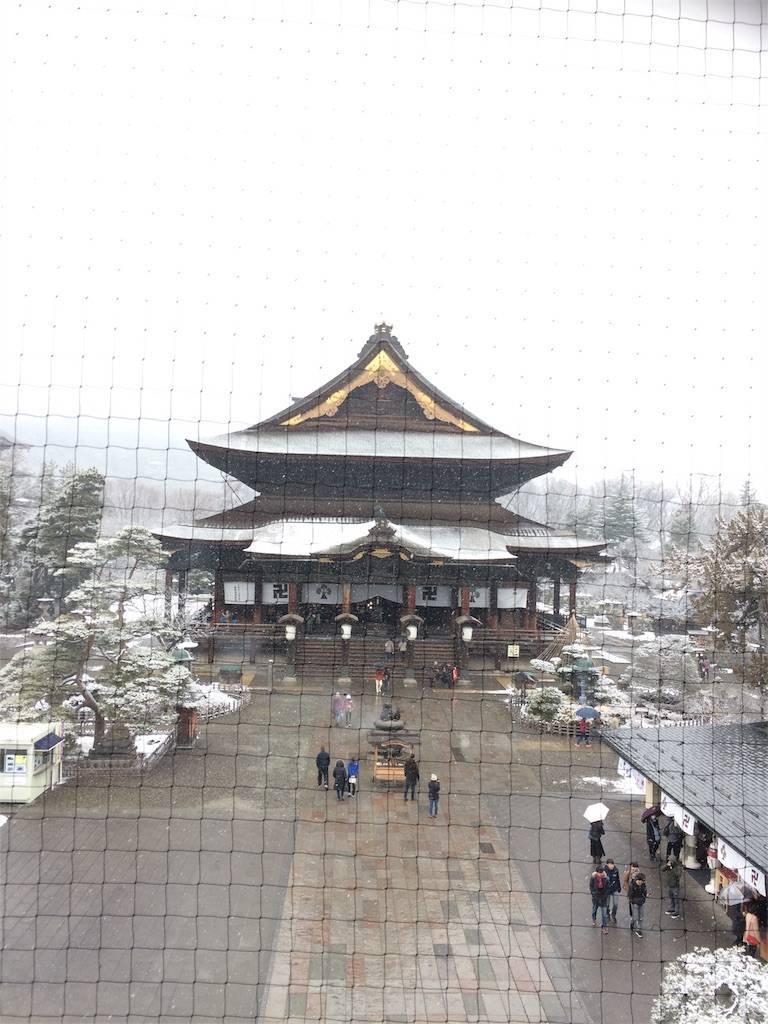 長野 善光寺 雪