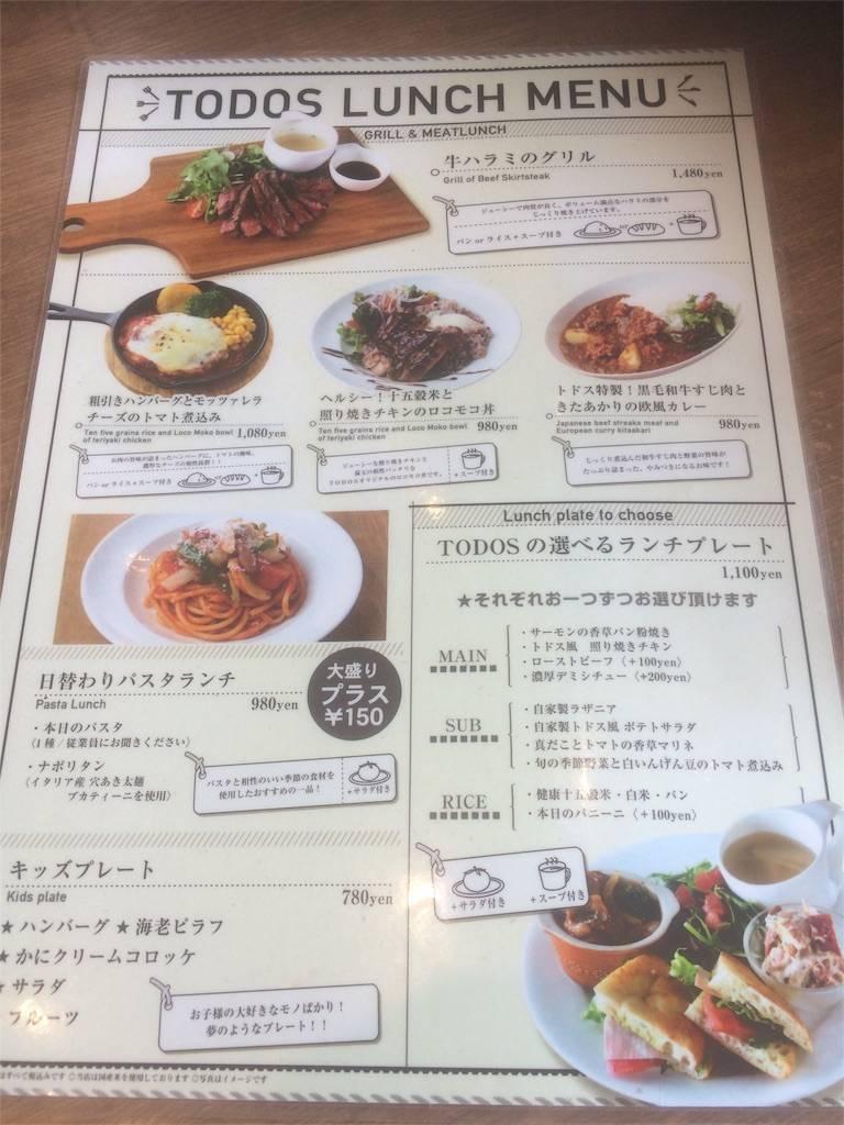 株主優待 ジェイグループ TODOS メニュー オーソドックス