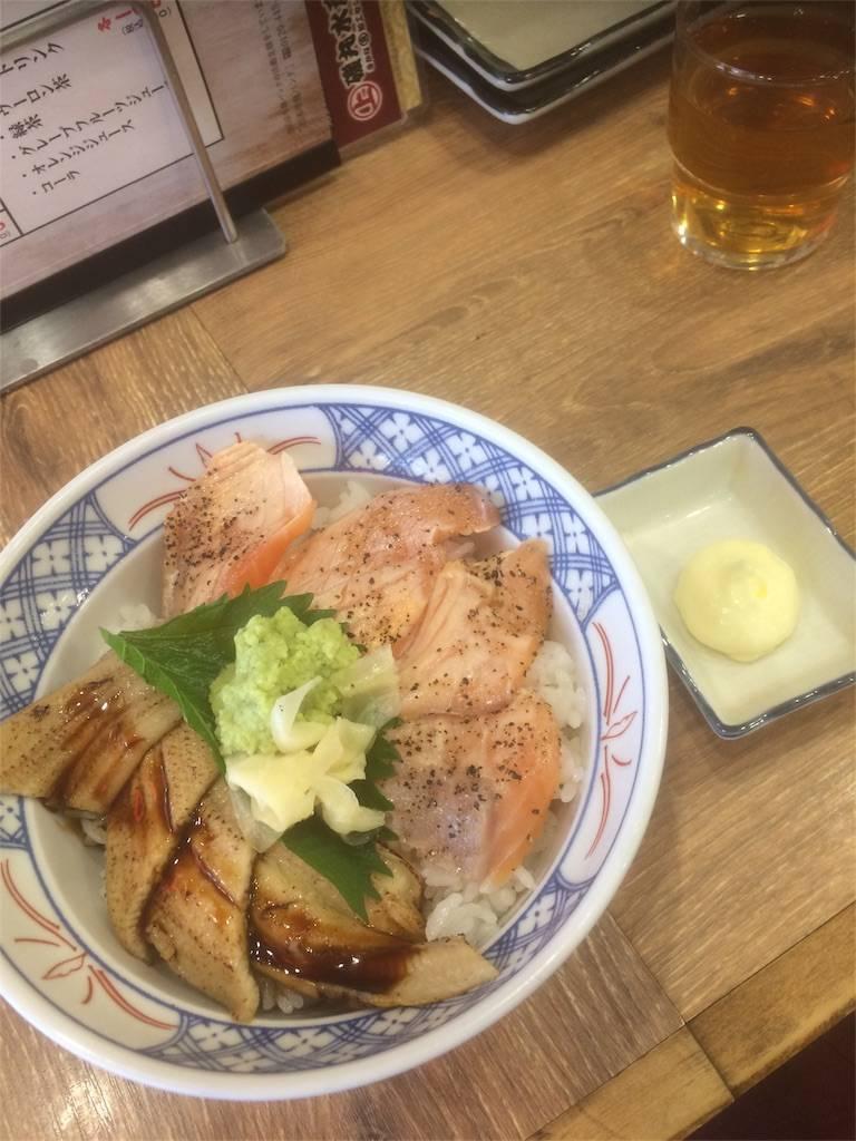 株主優待 SFP 磯丸水産 ランチ サーモンとアナゴ