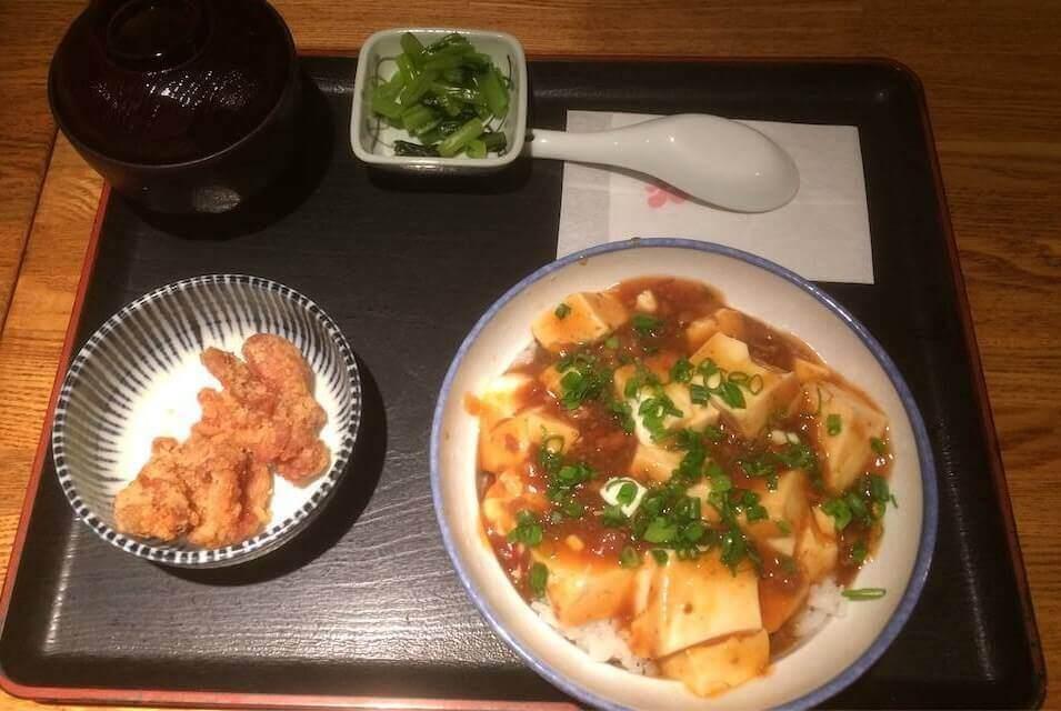 テンアライド 居酒屋ランチ 麻婆豆腐