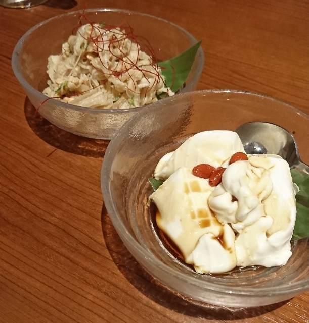 ちゅら屋 ミミガーピーナッツ和え ジーマミ豆腐